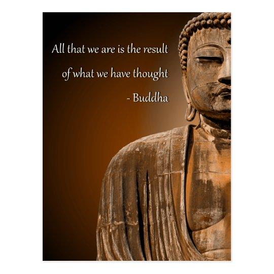 Zen Buddha Quote Inspirational Spiritual Thought Postcard