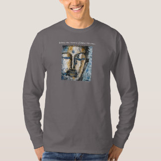 Zen Buddha Watercolor Art Men's Long Sleeve Shirt