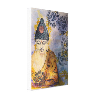 Zen Buddha Watercolor Canvas Print 12x18