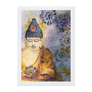 Zen Buddha Watercolor Canvas Print 24x18