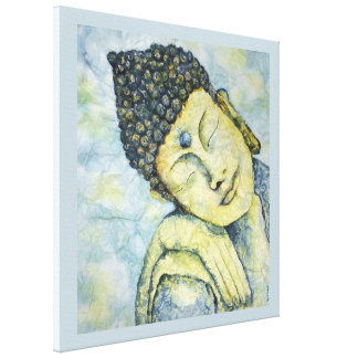 Zen Buddha Watercolor Canvas Print 24x24