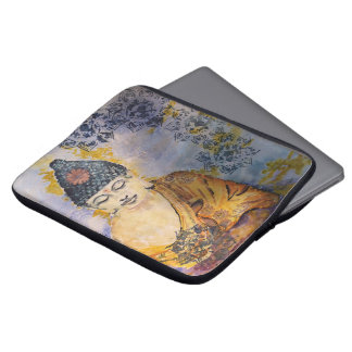 Zen Buddha Watercolor Laptop Sleeve