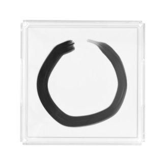 Zen Buddhist Enso Circle Acrylic Tray
