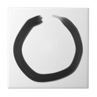 Zen Buddhist Enso Circle Tile