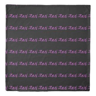 zen calligraphy Thunder_Cove pink/black Duvet Cover