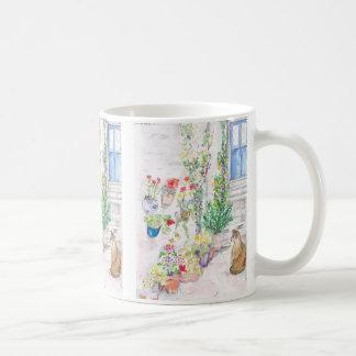 Zen Cat of Polperro, Cornwall Coffee Mug