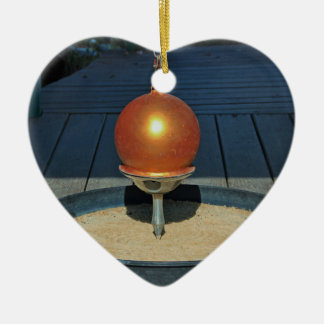 Zen Ceramic Heart Ornament