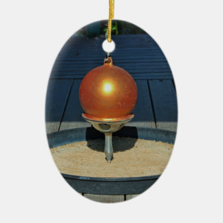 Zen Ceramic Oval Ornament