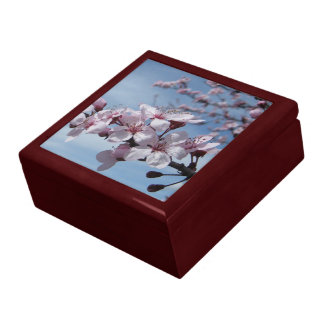Zen Cherry Blossom Mahogany Jewelry  Box