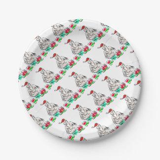 Zen Christmas Designs 7 Inch Paper Plate