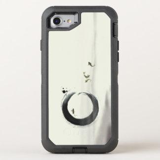 Zen Circle Enso Koi Brush Painting Art OtterBox Defender iPhone 7 Case