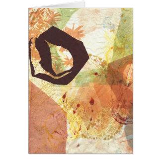 Zen Circle Enso Passage Abstract Card