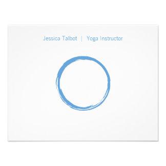 ZEN CIRCLE in SKY BLUE Flat Notecard Custom Invites