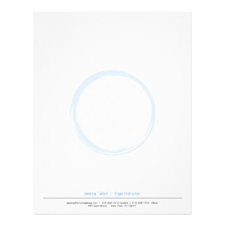 ZEN CIRCLE in SKY BLUE Letterhead