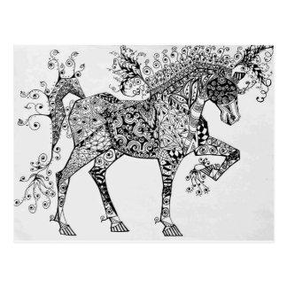 Zen Cirque Horse Postcard