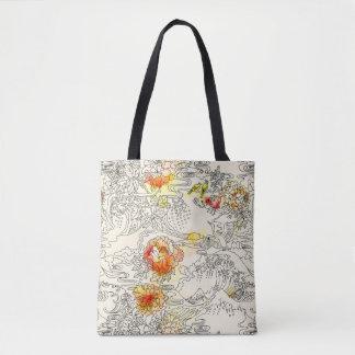 Zen Crane Japanese print Tote Bag