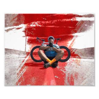 Zen cycling fikeshot photo print