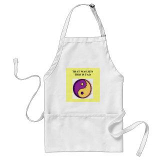 zen dao buddhism taoism joke standard apron