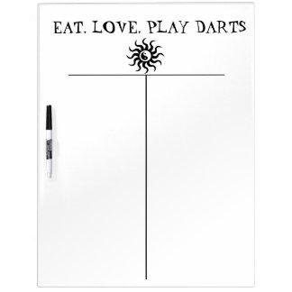 Zen Darts Score Board-Aztec Yin-Yang Sun Dry Erase Board