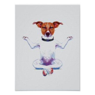 Zen Dog I Watercolor Poster