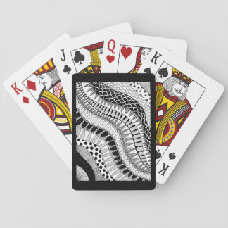 Zen Doodle Black & White Organic Pattern Playing Cards