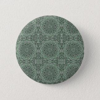 Zen Doodle Zen Tangle Tribal Ornate Detail Green 2 Inch Round Button