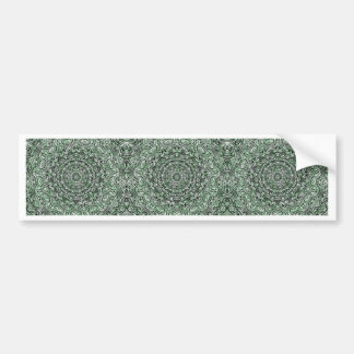 Zen Doodle Zen Tangle Tribal Ornate Detail Green Bumper Sticker
