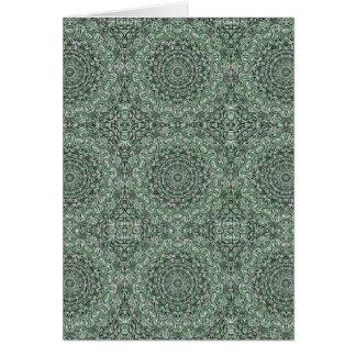 Zen Doodle Zen Tangle Tribal Ornate Detail Green Card