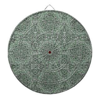 Zen Doodle Zen Tangle Tribal Ornate Detail Green Dartboard