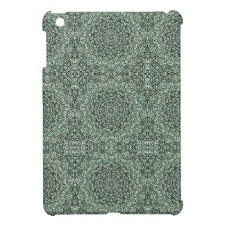 Zen Doodle Zen Tangle Tribal Ornate Detail Green iPad Mini Case