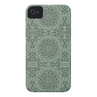 Zen Doodle Zen Tangle Tribal Ornate Detail Green iPhone 4 Case-Mate Case
