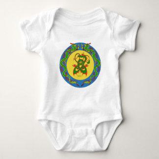 zen dragon ring baby bodysuit