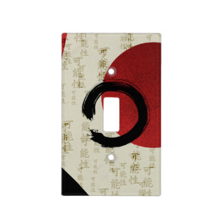 Zen Ensō Circle with Kanji Potential Abstract Light Switch Cover