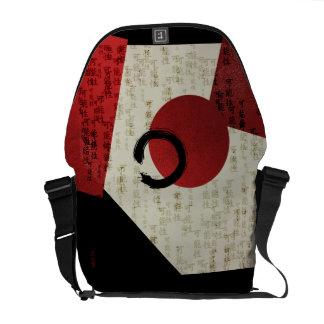 Zen Ensō Circle with Kanji Potential Abstract Messenger Bag