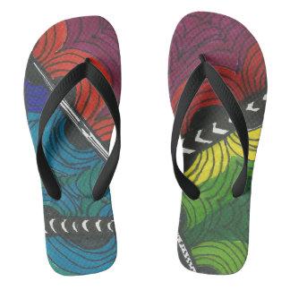 Zen Flip Flops (Multicolor)