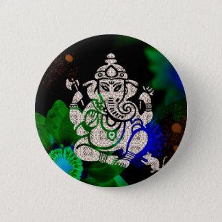 Zen Ganesh 2 Inch Round Button