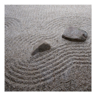 Zen Garden Detail. Poster