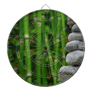 Zen Garden Meditation Monk Stones Bamboo Rest Dartboard