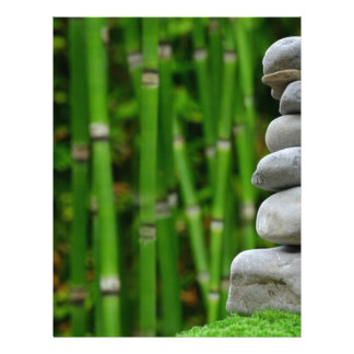 Zen Garden Meditation Monk Stones Bamboo Rest Letterhead