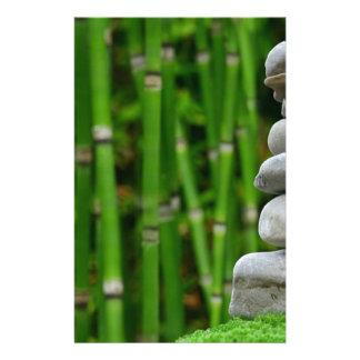 Zen Garden Meditation Monk Stones Bamboo Rest Stationery