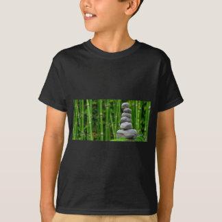 Zen Garden Meditation Monk Stones Bamboo Rest T-Shirt
