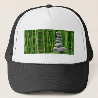 Zen Garden Meditation Monk Stones Bamboo Rest Trucker Hat