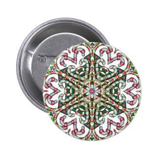 Zen-griffonnage de Noël Macaron Rond 5 Cm