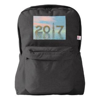 Zen happy new year 2017 - 3D render Backpack