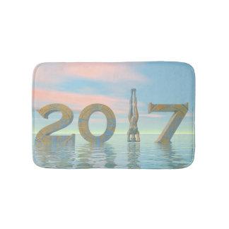 Zen happy new year 2017 - 3D render Bath Mat