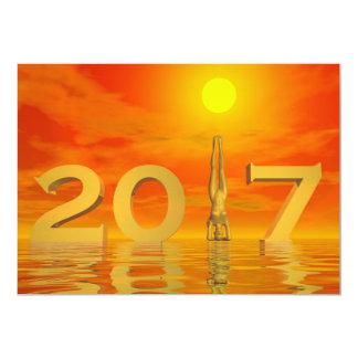 Zen happy new year 2017 - 3D render Card