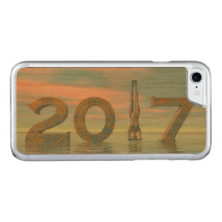 Zen happy new year 2017 - 3D render Carved iPhone 8/7 Case
