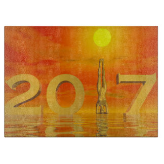 Zen happy new year 2017 - 3D render Cutting Board