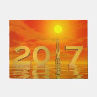 Zen happy new year 2017 - 3D render Doormat