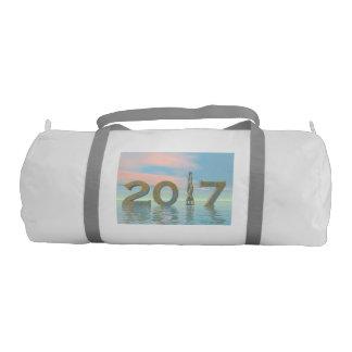 Zen happy new year 2017 - 3D render Gym Bag